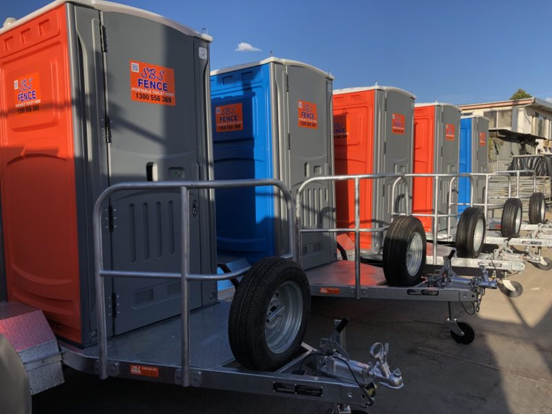 trailer mounted toilet